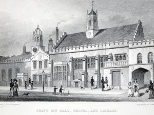 Gray's Inn Hall by Thomas Hosmer Shepherd