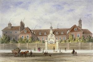 Grey Coat Hospital, Tothill Fields, Westminster, London, C1840 by Thomas Hosmer Shepherd