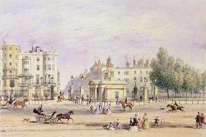 Grosvenor Gate and the New Lodge, 1851 by Thomas Hosmer Shepherd