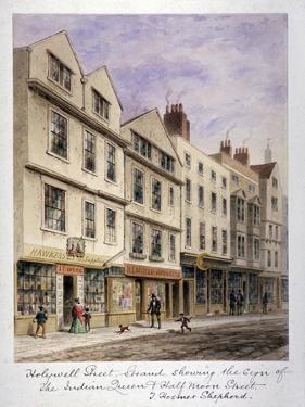 Holywell Street, Westminster, London, C1853 by Thomas Hosmer Shepherd