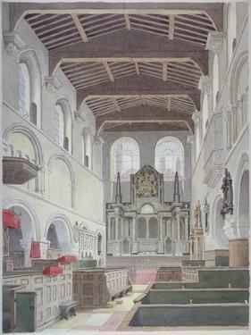 Interior View of the Church of St Bartholomew-The-Great, Smithfield, City of London, 1821 by Thomas Hosmer Shepherd
