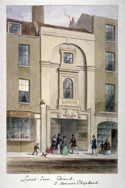 Lyon's Inn, Strand, Westminster, London, C1850 by Thomas Hosmer Shepherd