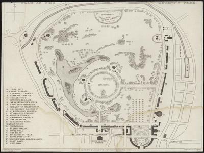 Map of Regent's Park