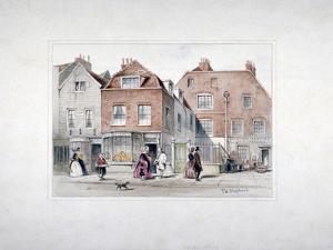 Mr Upcott's House and Figures on Upper Street, Islington, London, C1835 by Thomas Hosmer Shepherd