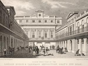 N.W. View of the London Horse and Carriage Repository by Thomas Hosmer Shepherd