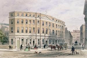 New Houses at Entrance of Gresham St, 1851 by Thomas Hosmer Shepherd