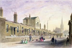 Palmer's Alms Houses, Tothill Fields by Thomas Hosmer Shepherd
