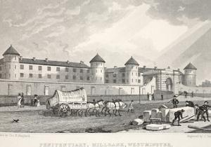 Penitentiary, Millbank, Westminster, from 'London and it's Environs in the Nineteenth Century' by Thomas Hosmer Shepherd