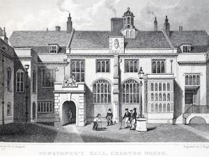 Pensioner's Hall by Thomas Hosmer Shepherd