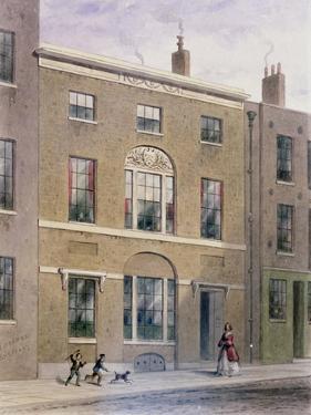 Plumbers Hall in Great Bush Lane, Cannon Street, 1851 by Thomas Hosmer Shepherd