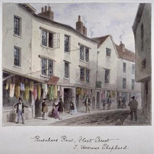 Probably a View of Holywell Street, Westminster, London, C1850 by Thomas Hosmer Shepherd