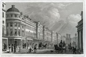 Regent Street, London, from the Quadrant by Thomas Hosmer Shepherd