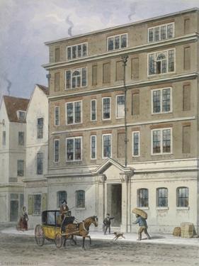 Residence of Titus Oates, Oat Lane, City of London, 1848 by Thomas Hosmer Shepherd