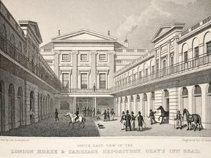 S.E. View of the London Horse and Carriage Repository by Thomas Hosmer Shepherd