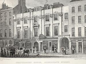 Shaftesbury House, Aldersgate Street by Thomas Hosmer Shepherd