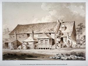 South-East View of John Bunyan's Meeting House, Zoar Street, Southwark, London, 1813 by Thomas Hosmer Shepherd