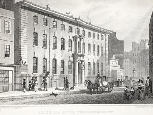 South Sea House, Threadneedle Street by Thomas Hosmer Shepherd