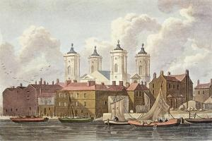 St. Johns Church Westminster, 1815 by Thomas Hosmer Shepherd