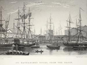 St Katherine Docks by Thomas Hosmer Shepherd