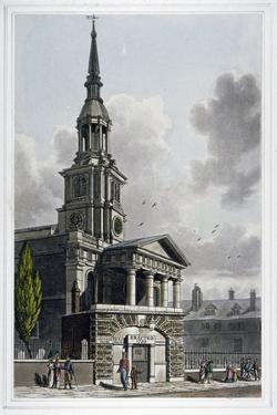 St Leonard's Church, Shoreditch, London, 1814 by Thomas Hosmer Shepherd