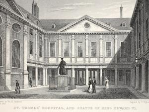 St Thomas's Hospital and Statue of King Edward VI by Thomas Hosmer Shepherd