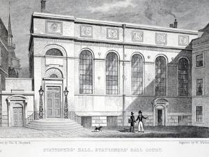Stationer's Hall, Stationer's Hall Court by Thomas Hosmer Shepherd