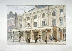 Surrey Theatre and Surrey Coffee House on Blackfriars Road, Southwark, London, C1835 by Thomas Hosmer Shepherd