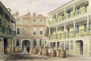The Bell Inn, Aldersgate Street, 1851 by Thomas Hosmer Shepherd