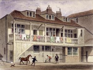 The Black Lion Inn, Whitefriars Street, London, C1855 by Thomas Hosmer Shepherd