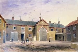 The City Green Yard, 1855 by Thomas Hosmer Shepherd