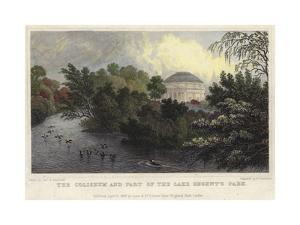 The Coliseum and Part of the Lake, Regent's Park, London by Thomas Hosmer Shepherd