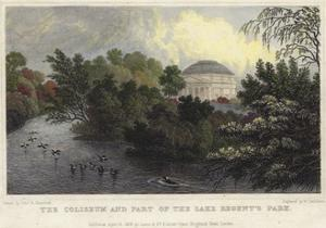 The Coliseum and Part of the Lake, Regent's Park, London by Thomas Hosmer Shepherd