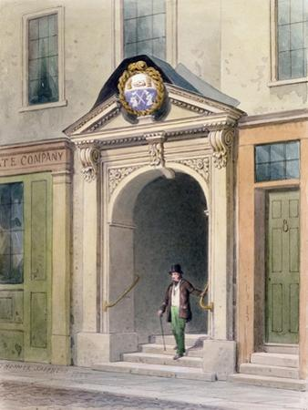 The Entrance to Butchers' Hall, 1855 by Thomas Hosmer Shepherd