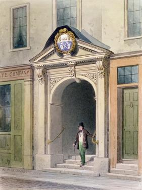 The Entrance to Butchers' Hall, 1855 by Thomas Hosmer Shepherd
