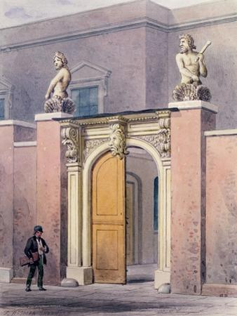 The Entrance to Joiners' Hall, 1854 by Thomas Hosmer Shepherd