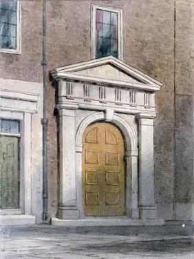The Entrance to Masons' Hall, 1854 by Thomas Hosmer Shepherd