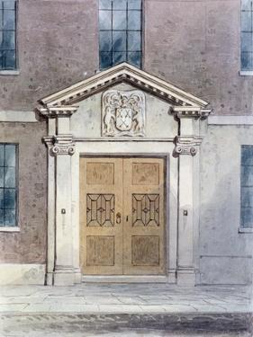The Entrance to the Cutlers Old Hall, 1850 by Thomas Hosmer Shepherd