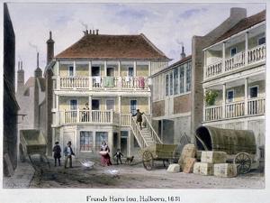 The French Horn Inn, Holborn, London, 1851 by Thomas Hosmer Shepherd