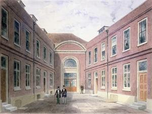 The Inner Court of Girdlers Hall Basinghall Street, 1853 by Thomas Hosmer Shepherd
