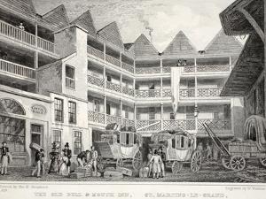 The Old Bull and Mouth Inn by Thomas Hosmer Shepherd