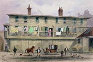 The Old Vine Inn, Aldersgate Street, 1855 by Thomas Hosmer Shepherd