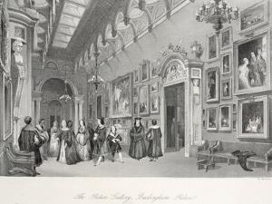 The Picture Gallery at Buckingham Palace by Thomas Hosmer Shepherd