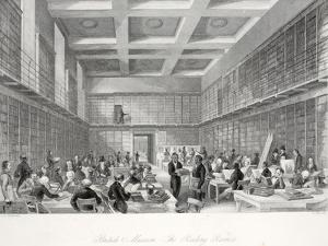 The Reading Room and Library at the British Museum by Thomas Hosmer Shepherd