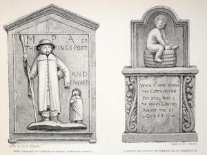 The Tablet in Pannier Alley - King Charles' Porter and Dwarf by Thomas Hosmer Shepherd