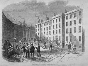 View of Fleet Prison and the Tennis Ground, City of London, 1845 by Thomas Hosmer Shepherd