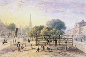 View of Islington Pound, 1850 by Thomas Hosmer Shepherd