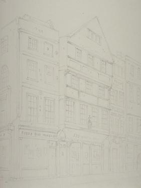 View of Old Houses in Chancery Lane, 1853 by Thomas Hosmer Shepherd