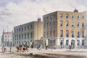 View of Soho Square and the Catholic Chapel, 1850 by Thomas Hosmer Shepherd