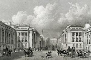 Waterloo Place and Part of Regent Street, Pub.1828 by Thomas Hosmer Shepherd