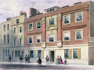 Winchester Street, 1850 by Thomas Hosmer Shepherd